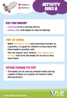 Play Well Activity Card 8