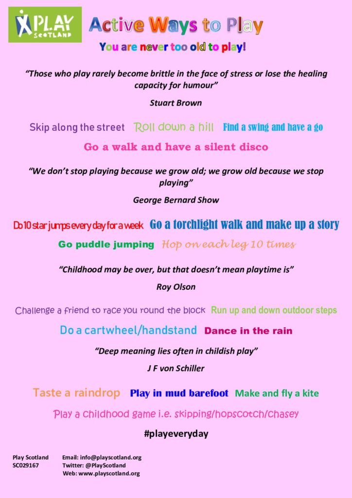 Active ways to play