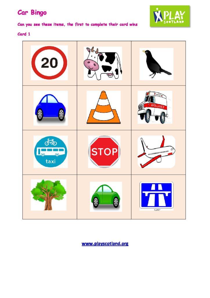 Car Bingo – 5 sheets