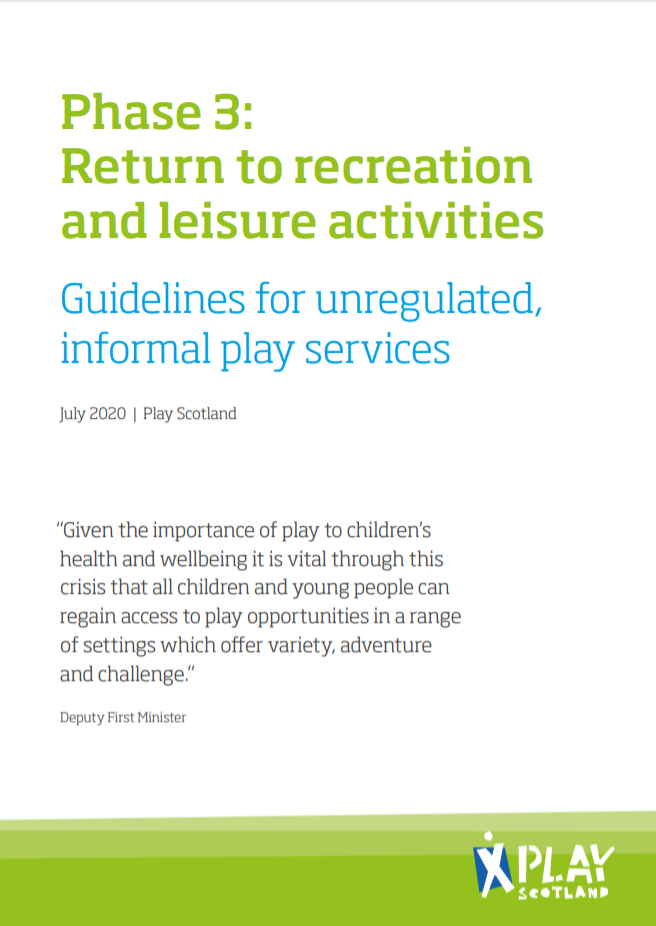 Guidelines for unregulated informal play services
