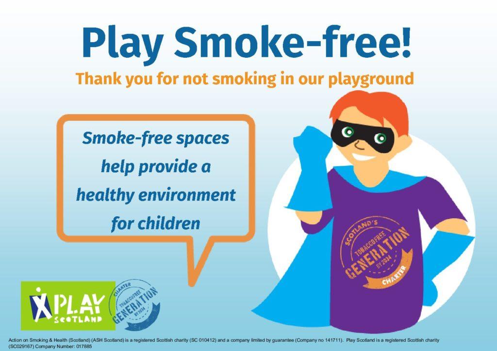 Play Smoke Free – boy super hero