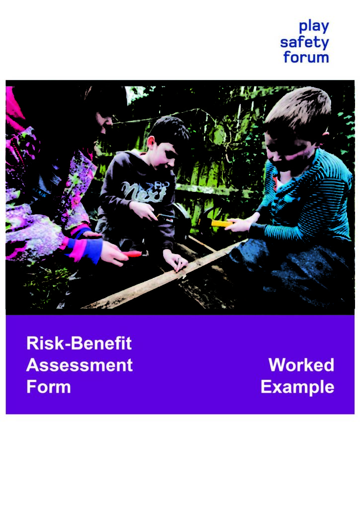Risk Benefit Assessment Form Worked Example