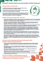 Scotland's Outdoor Play & Learning Coalition Position Statement