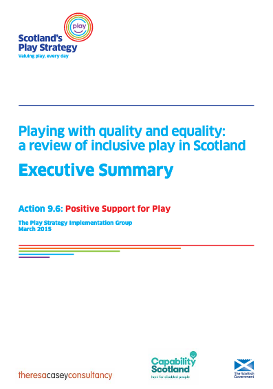 Playing with Quality and Equality, 2015