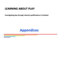 Learning about Play report, 2015