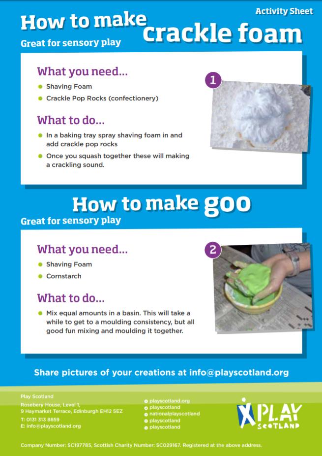 A13: how to make crackle foam and goo