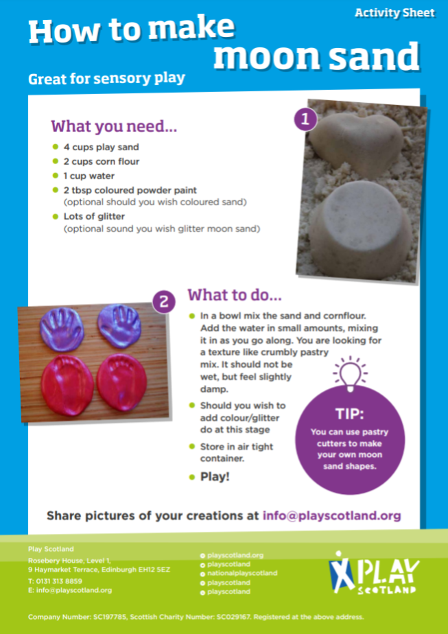 A11: how to make moon sand