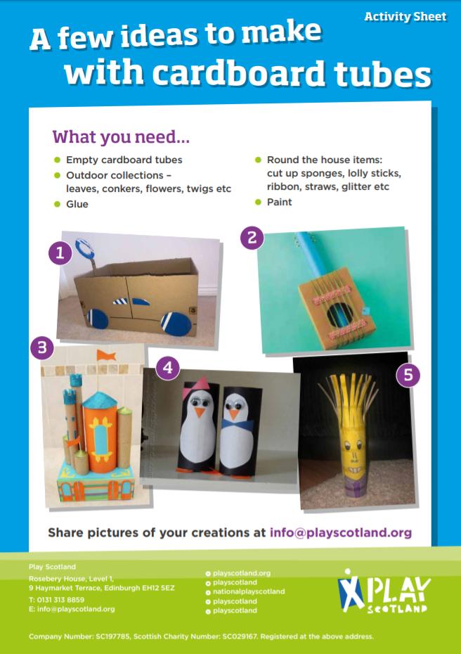 A7: a few ideas for cardboard tubes