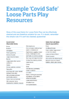 Example 'Covid Safe' Loose Parts Play Resource