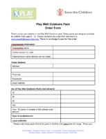 Play Well Outdoors Pack Order Form
