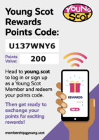 Young Scot Rewards Points Code 16/08/21