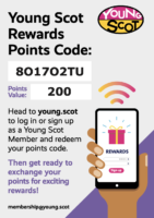 Young Scot Rewards Points Code 26/07/21