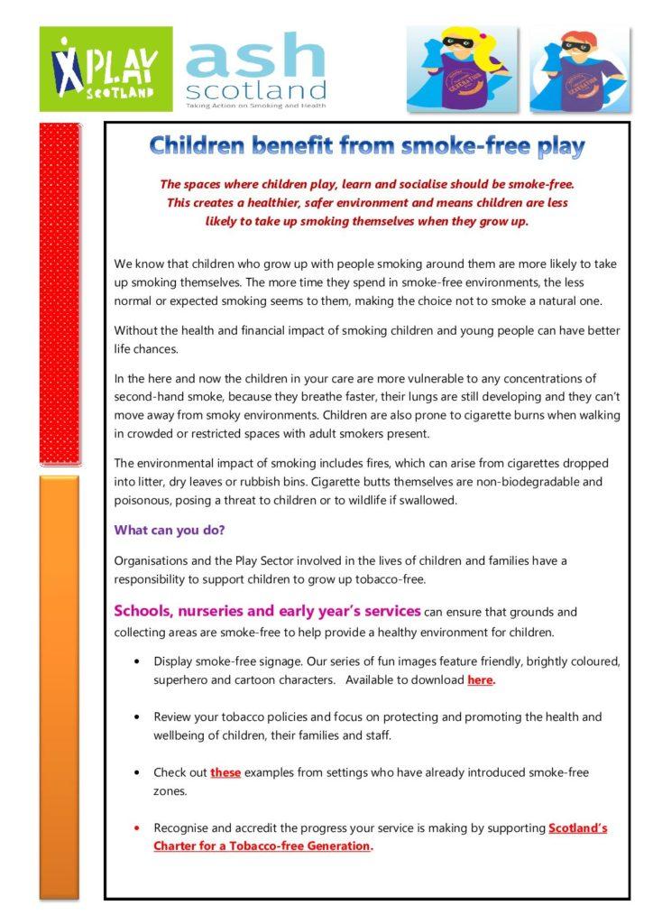 Smoke Free Information Sheet