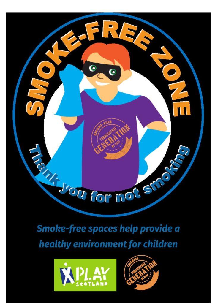 Smoke free spaces – boy super hero