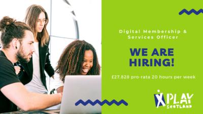 We are hiring Digital Membership & Services Officer £27,828 pro-rata 20 hours per week