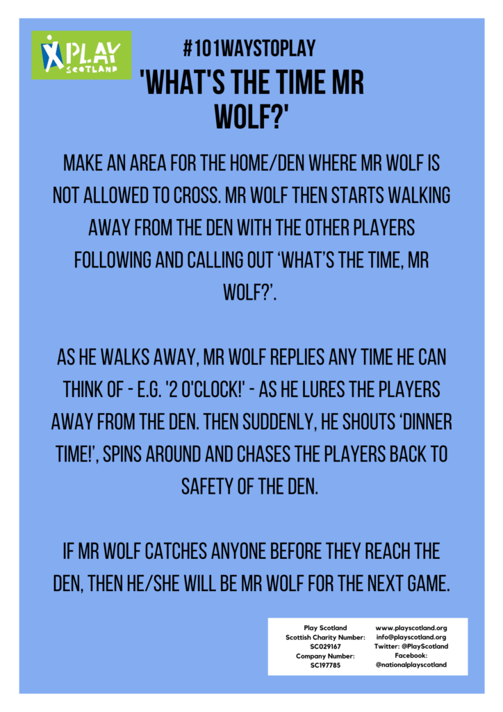'What's the time Mr Wolf?'