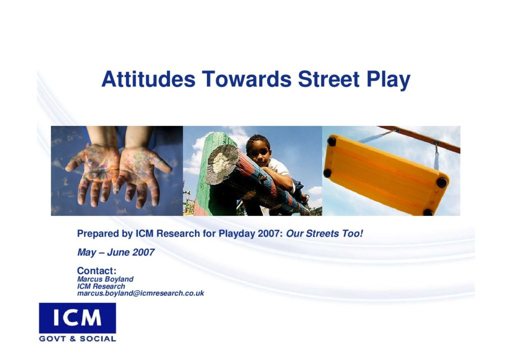 Attitudes towards street play