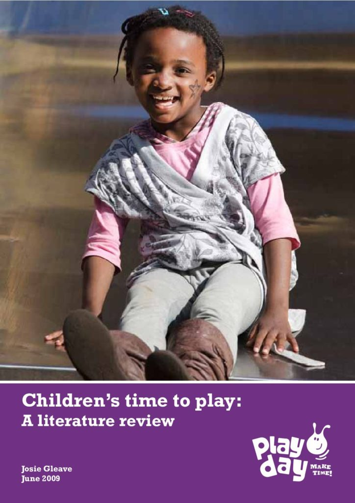 Children's time to play –  A literature review