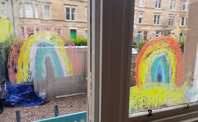 Rainbows in windows - for the NHS