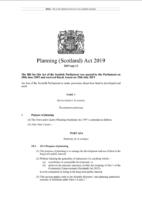 Planning (Scotland) Act 2019