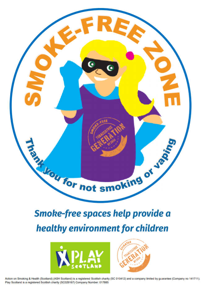 Smoke-free zone – hero girl