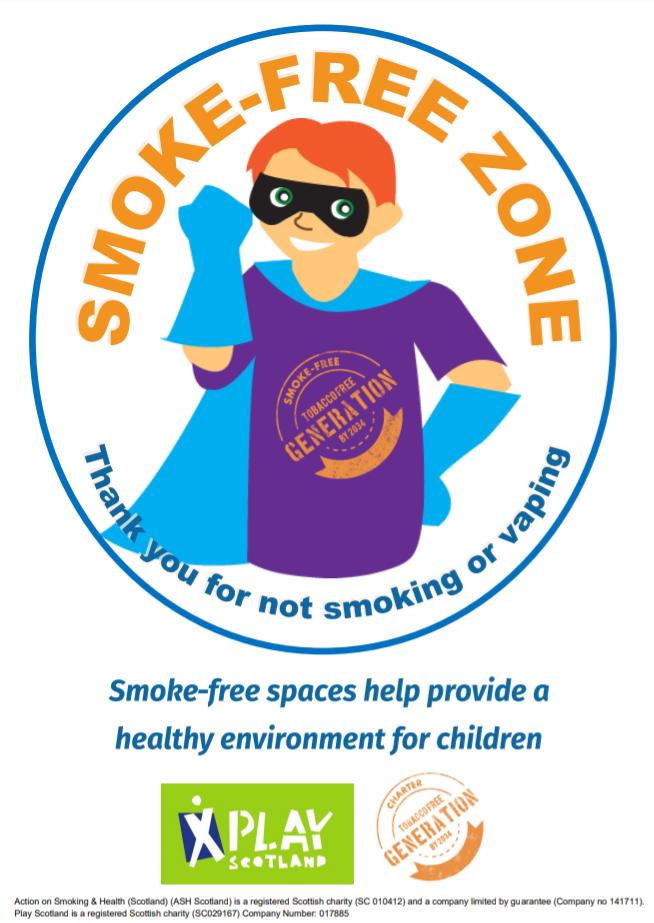 Smoke-free zone – hero boy